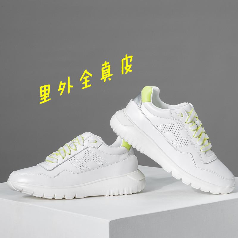 夏の薄い白の靴の女性2021新型のカジュアルシューズの女性の柔らかい底は滑りにくくて、通気性が良いです。