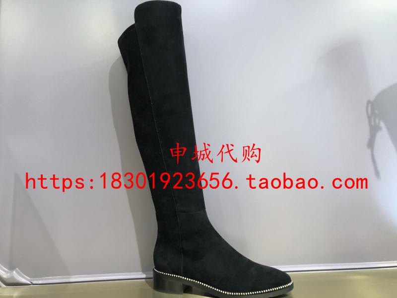 LineaRosa恋尚萝莎国内代购2020冬款粗跟过膝靴女尖头长靴1T27601