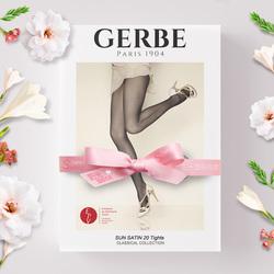法国GERBE进口丝袜女20d超薄款性感光腿隐形玻璃丝连裤袜子309