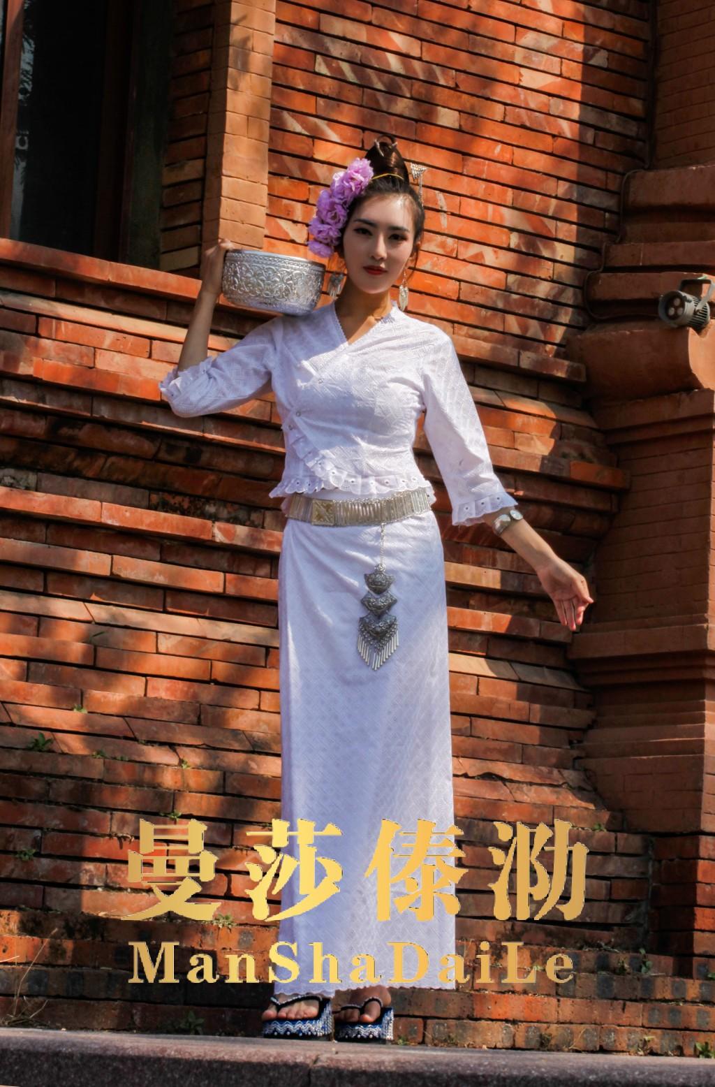 曼莎傣泐服饰夏季新品西双版纳傣族女装舞蹈日常服民族服饰母亲节
