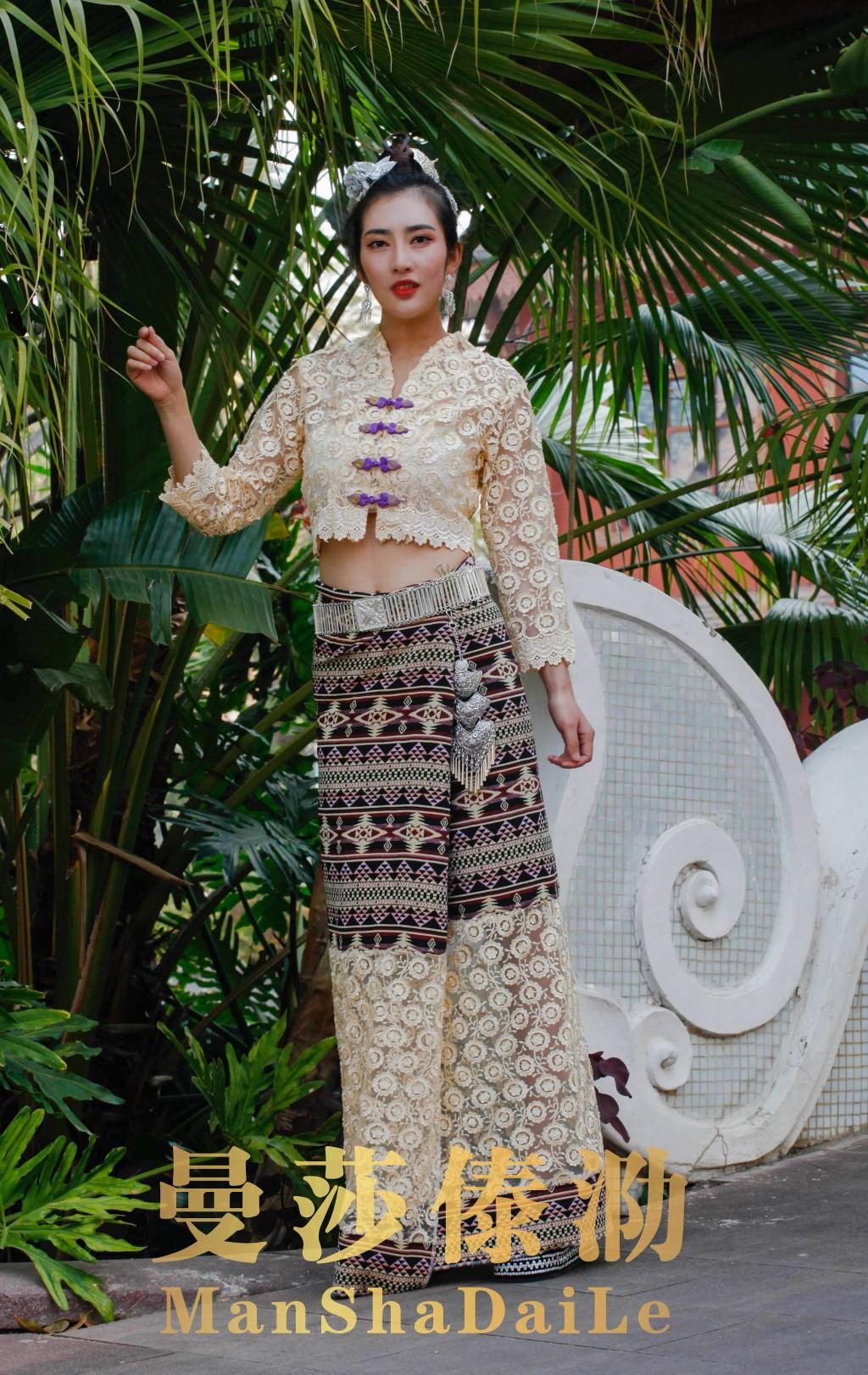曼莎傣泐1004夏季新品西双版纳傣族女装舞蹈日常服民族服饰母亲节