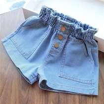 女童牛仔短裤8夏装9洋气十岁女孩中大童夏儿童韩版宽松百搭热裤薄