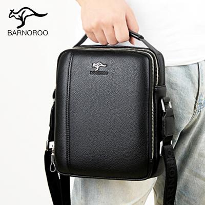 Barno kangaroo men's bag shoulder bag men's briefcase business handbag small leather bag men's hand messenger bag tide