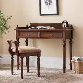 美式书桌实木书房家具简约卧室书桌写字台办公桌电脑桌子小户型图片