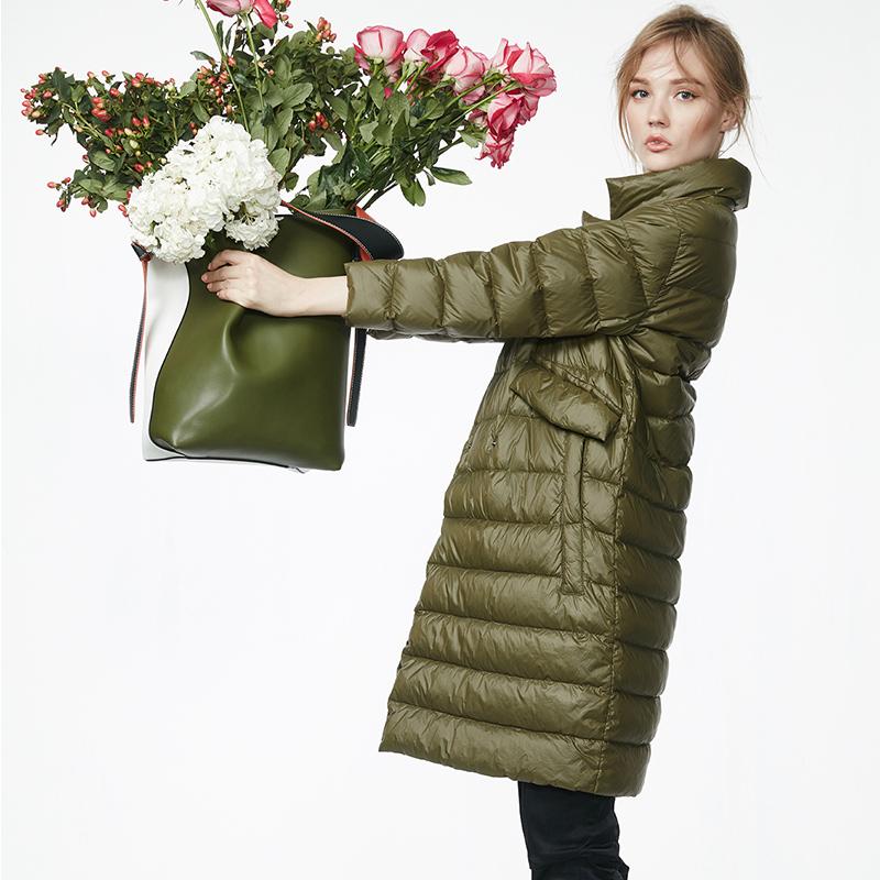 2016 осень/зима сезона новой Европы и большие свободные легкие длинные YRF сверхлегкие вниз куртка женщин бума