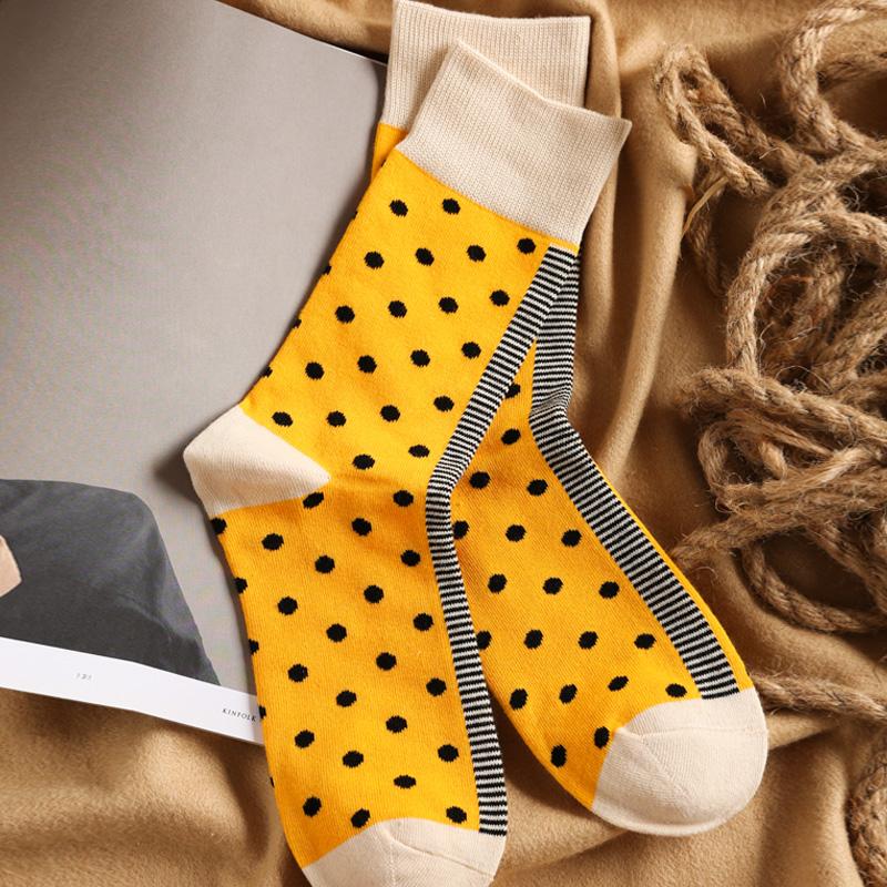 波点街头全棉时尚ins女情侣袜子限时抢购