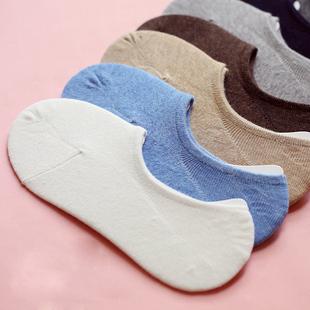 春夏季纯色纯棉隐形浅口男女船袜子日系运动薄款短情侣袜豆豆鞋袜