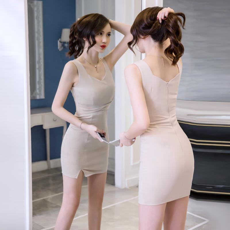 实拍夜场性感女装2018夏季新款韩版时尚气质显瘦包臀连衣裙