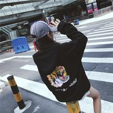 7855#(实拍)冬季新款韩版老虎头连帽加绒卫衣  (加绒250克)