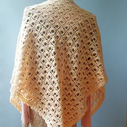 手工编织旗袍披肩女秋冬外搭复古钩花镂空羊毛斗篷式外套围巾两用