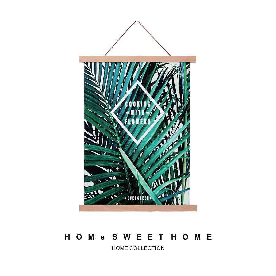 【 зеленый гора прекрасный ночь 】EG зеленый завод картины вешать одеяло вешать ткань дерево качество рамка нордический декоративный живопись амперметр крышка блок