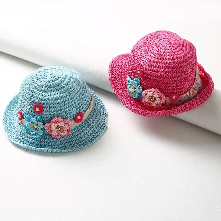 Уютный милый ребенок солнцезащитный крем затенение крышка сладкий цветы декоративный купол ткать соломенная шляпа DMPD802038