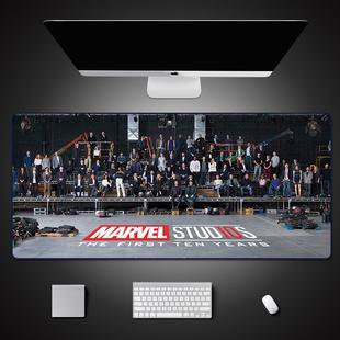 鼠标垫超大钢铁侠桌垫蜘蛛侠电脑桌垫电竞游戏鼠标垫定制漫威周边