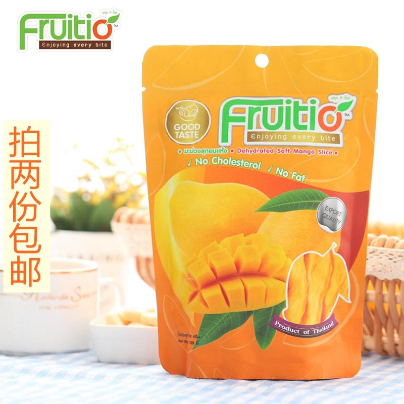 泰国进口普吉岛Fruitio福泰果芒果干100g媲美宿务芒果片清真食品图片