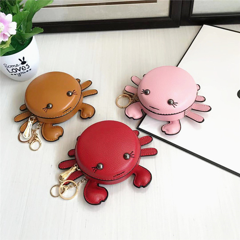 Bag, female cartoon, cute little crab, zero wallet, teenage girl bag, pendant, coin bag, key bag, bank card bag