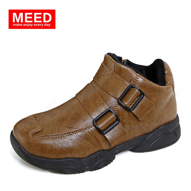 冬童鞋兒童中幫皮鞋男童棉鞋女童棉靴子大童短靴寶寶冬鞋 皮鞋
