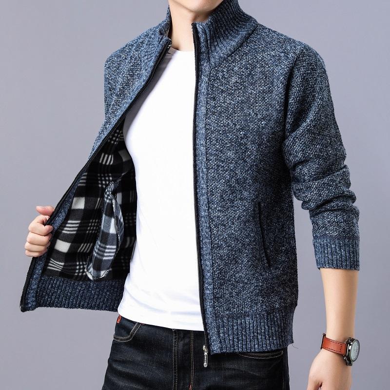 2021新款男装秋冬季新款休闲针织衫潮牌外套 男士夹克开衫卫衣服