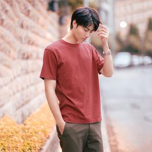 纯色圆领T恤短袖 优衣库U系列2021春夏 男纯棉基础433028 代购 正品
