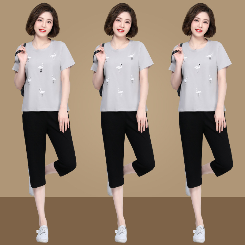 I want to buy Womens fashion casual clothes, mothers clothes for summer, two suits for mother aged 40-50-60