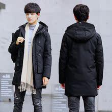 2017冬季新款男士棉衣修身加厚中长款韩版潮青年帅气棉服棉袄外套