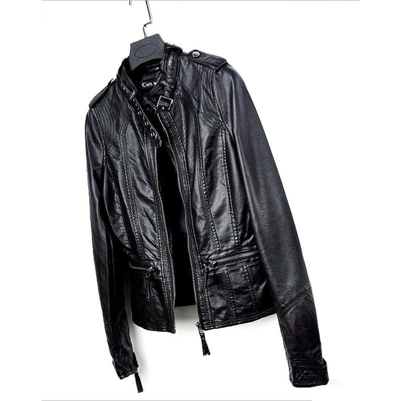 超胖女装特大码外套2021年秋季新款韩版显廋机车皮衣短款皮夹克