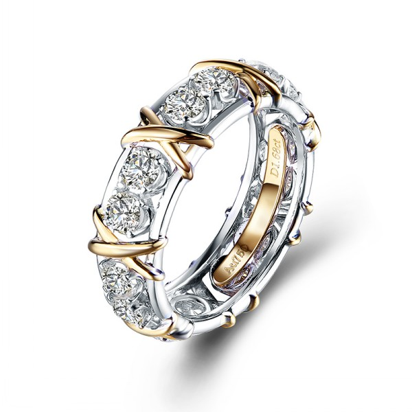 18 K gold mosan diamond ring rose gold couple ring mosan diamond wedding engagement ring female ring