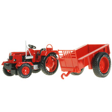 Cadiway retro agricultural tractor model alloy simulation farm car model engineering car children's toy car