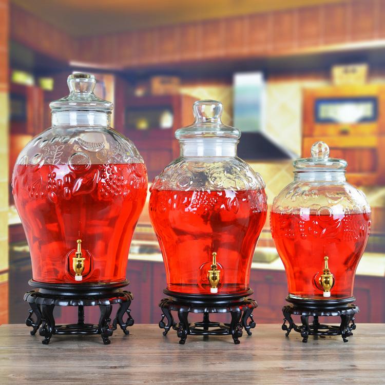 包郵無鉛加厚玻璃泡酒瓶帶龍頭20斤釀酒罐藥酒瓶泡酒壇子酒桶酒缸