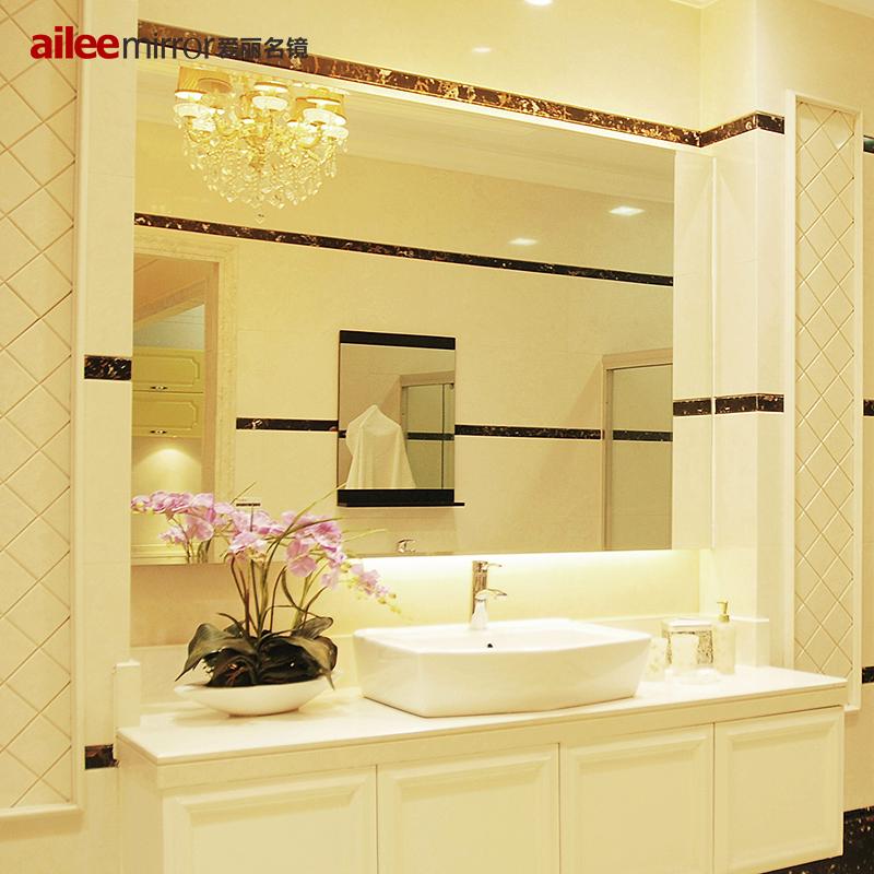 愛麗名鏡 無框浴室鏡廁所洗手間衛生間鏡子LED帶燈防霧壁掛可定製