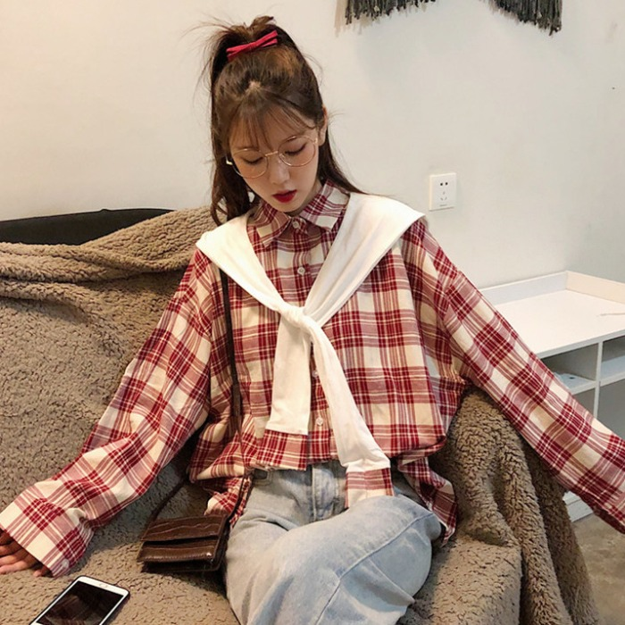 秋季女上衣2019新款韩版宽松衬衫45.98元包邮
