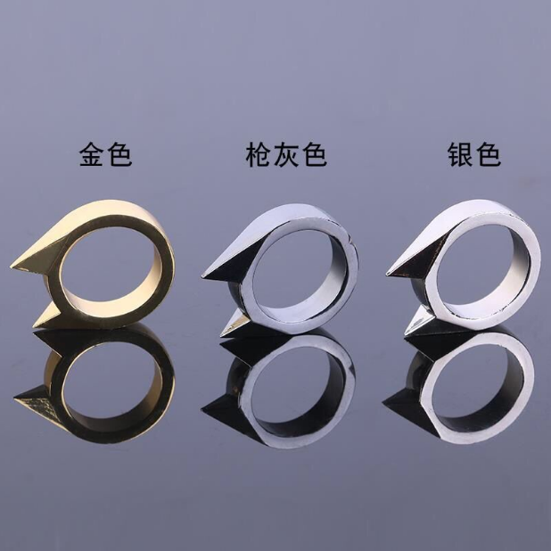 Cats ear ring womens and mens self defense equipment anti wolf fight weapon life saving finger tiger ring broken window outdoor equipment