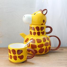创意陶瓷3d动物咖啡套装情侣马克杯