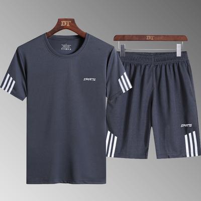 运动套装男夏季篮球宽松足球训练服