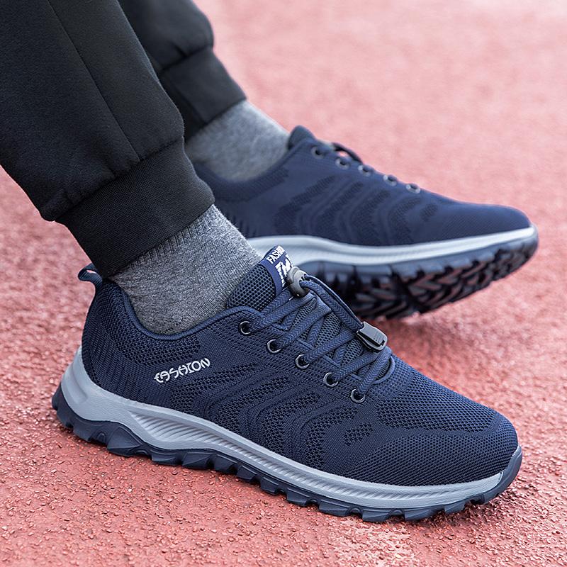 回力男鞋秋季防滑爸爸休闲鞋软底中老年健步鞋轻便中年男士运动鞋