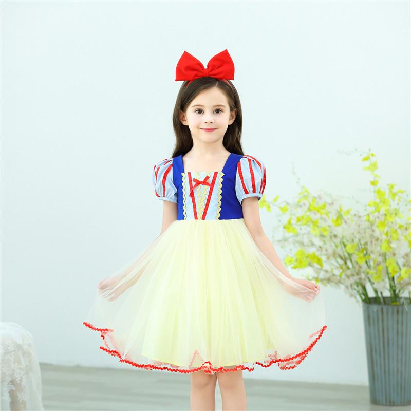 万圣节白雪公主连衣裙儿童演出服装生日公主裙女童冰雪爱莎公主裙