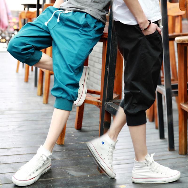 七分裤男士运动休闲哈伦短裤潮男裤宽松夏天小脚中裤夏季7分马裤