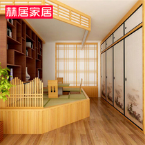 Hershey Japanese Sliding door tatami double-sided lattice door and room shift doors wardrobe door barrier paper partition custom
