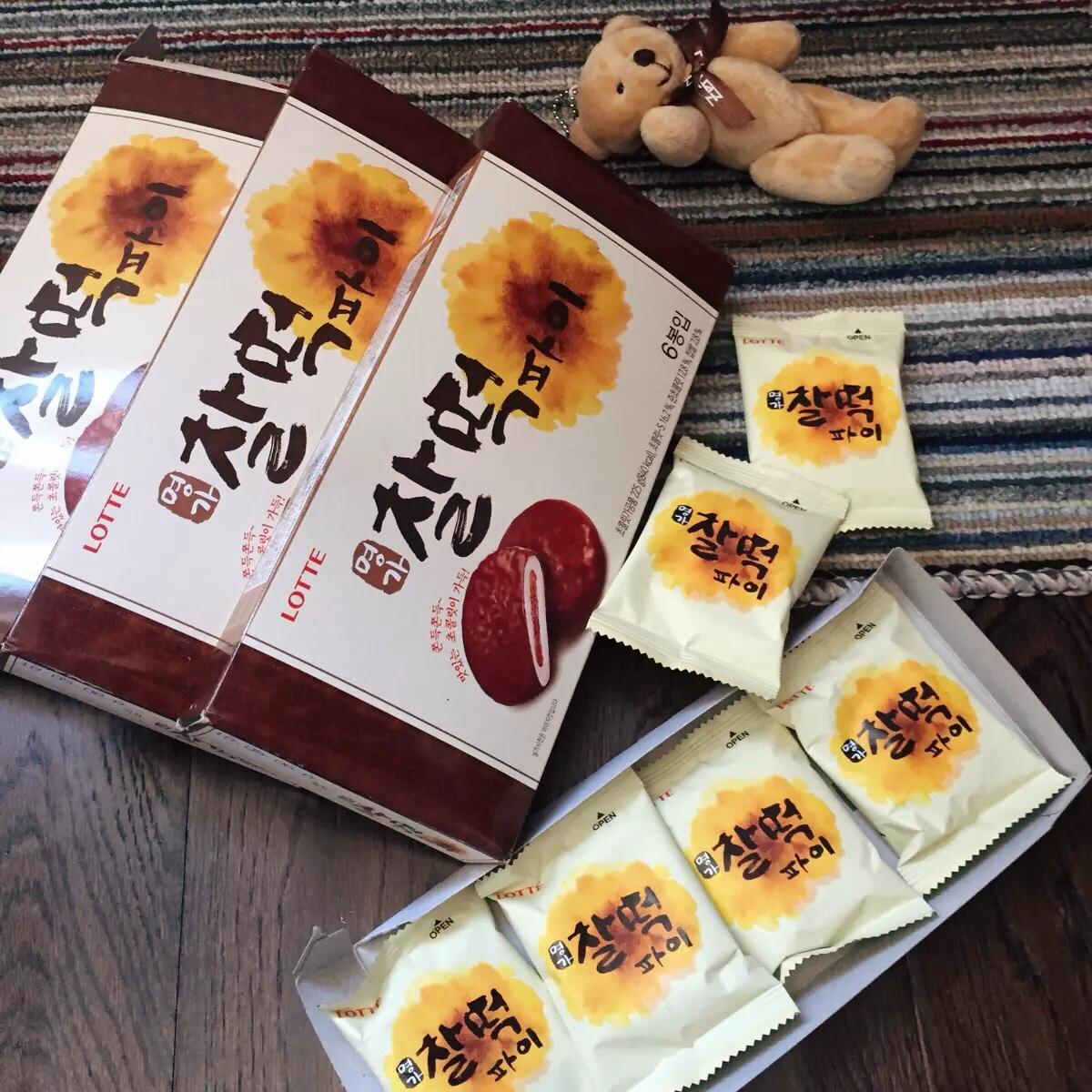 韩国进口乐天打糕派巧克力糯米麻薯