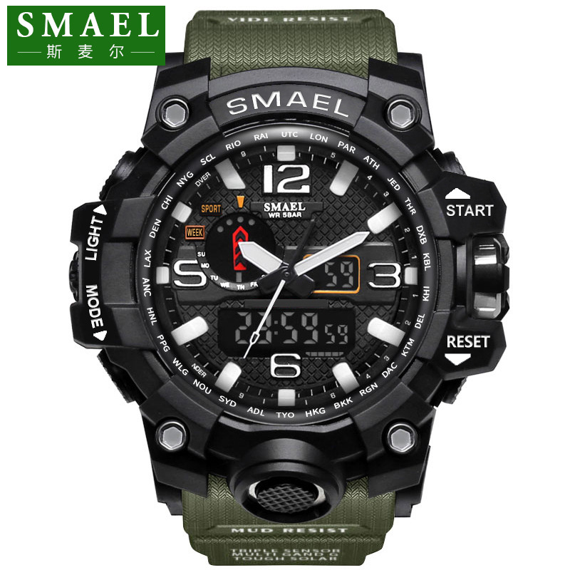 New authentic fashion sports multi-functional electronic watch student couple popular mens waterproof watch