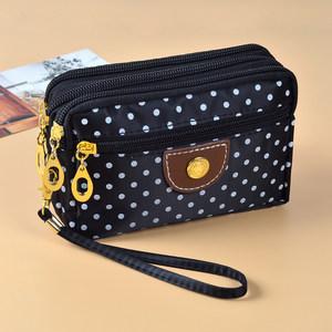 布艺四拉链钱包包女士大空间零钱夹2020新款时尚大屏手机手拿小包