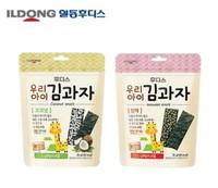 韩国宝宝辅食零食 日东福德食夹心海苔紫菜饼干海苔饼干 芝麻味