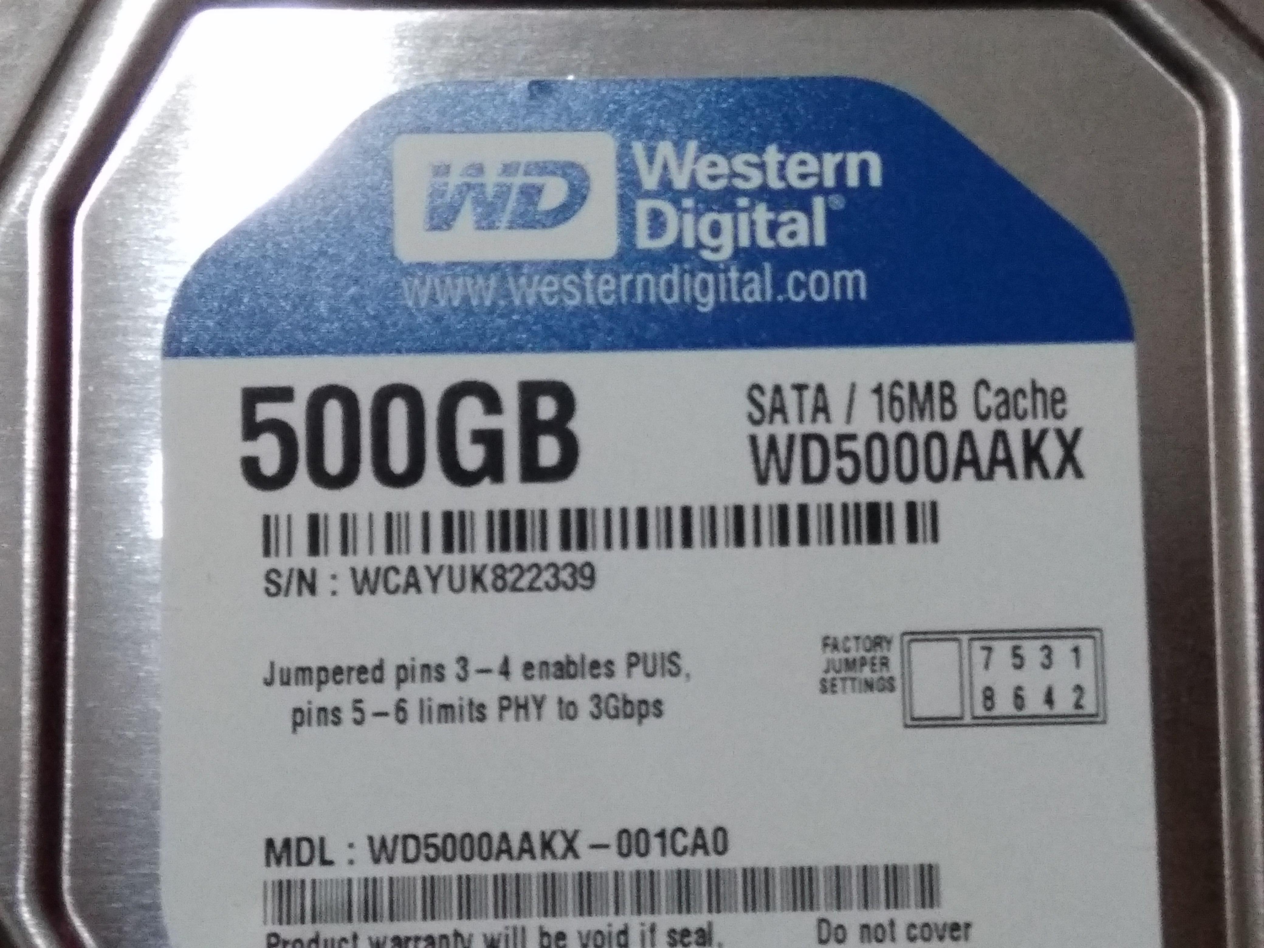 WD/西部数据 WD5000AAKX500G二手台式机械硬盘