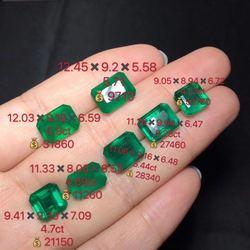 蓝钻彩宝天然天祖母绿裸石可戒指
