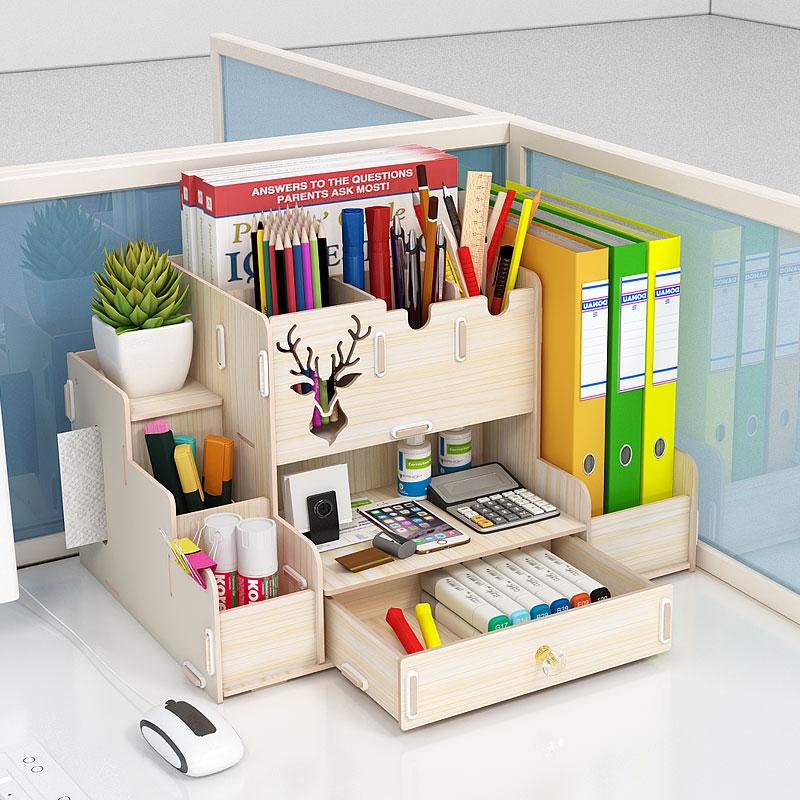 简易书架桌上收纳办公室办公桌