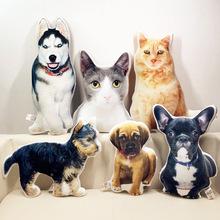 来图定制异形宠物抱枕diy猫狗靠垫订做动物3D仿真创意枕定做照片