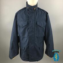 进口阿尔法ALPHA蓝色M65男风衣户外登山防寒战术外套夹克 美国正品