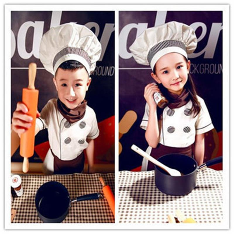 儿童厨师服套装男女童演出服烘培幼儿园小厨师角色扮演表演服