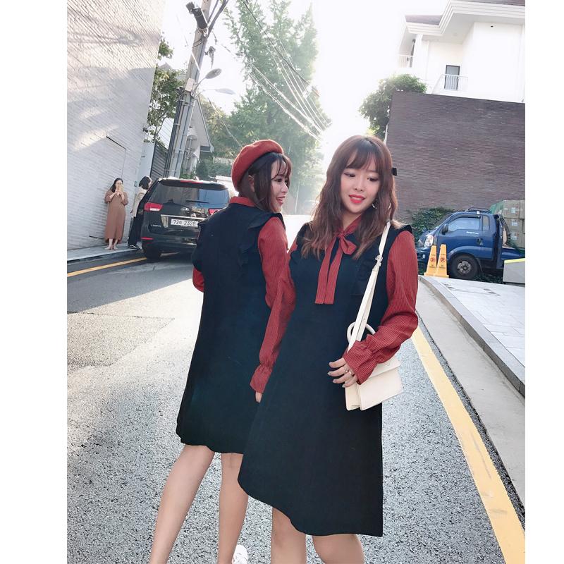 大码女装胖女人秋冬显瘦法式复古裙微胖妹妹mm遮肚连衣裙洋气减龄