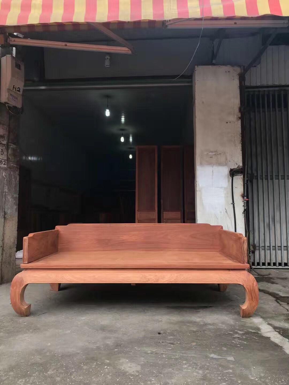 大果紫檀缅甸花梨红木罗汉床 光身半成品花梨罗汉床 欢迎定制