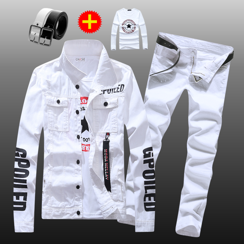 New mens Korean fashion jacket and jeans in spring and summer of 2019